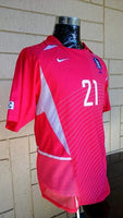 SOUTH KOREA 2002 WORLD CUP SEMI- FINALS JISUNG PARK JERSEY NIKE SHIRT 저지 셔츠 SOLD!!! - vintage soccer jersey