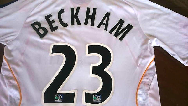 ec32f9e76 ... USA MLS LA GALAXY 2007-2008 CAPTAIN DAVID BECKHAM 23 JERSEY ADIDAS SHIRT  MEMORABILIA MEDIUM ...