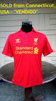 ENGLISH PREMIER LIVERPOOL FC 2012-2013 FA & LEAGUE CUP 4TH ROUND HOME JERSEY SHIRT  CODE WSTM200  SOLD  !!!