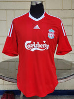 ENGLISH PREMIER LIVERPOOL FC 2008-2009 PREMIER LEAGUE FINALS GERRARD JERSEY ADIDAS SHIRT L  CODE 313214