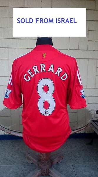 ENGLISH PREMIER LIVERPOOL FC 2008-2009 PREMIER LEAGUE FINALS GERRARD 8 JERSEY  ADIDAS SHIRT XL ca80588ed