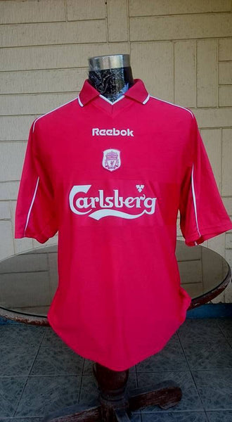 new style 94a45 27c49 ENGLISH PREMIER LIVERPOOL FC 2000-2001 TREBLE HOME JERSEY REEBOK HYDROMOVE  SHIRT