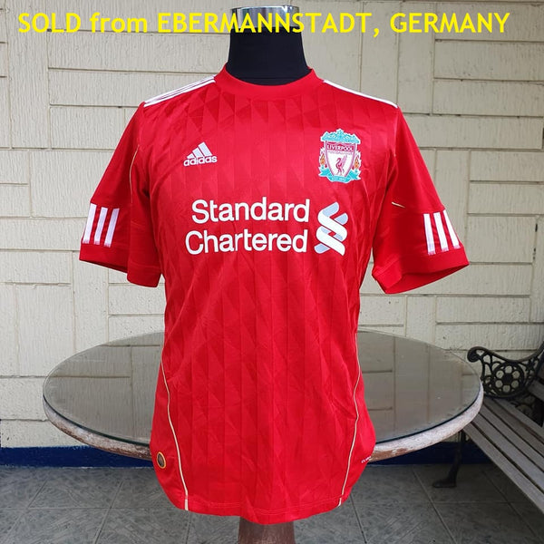 ENGLISH PREMIER LIVERPOOL FC 2010-2011 MGR. KENNY DAGLISH HOME JERSEY ADIDAS SHIRT MEDIUM  SOLD !!! - vintage soccer jersey
