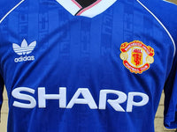 ENGLISH PREMIER RETRO MANCHESTER UNITED FC 1995-96 LEAGUE CUP 3rd JERSEY UMBRO SHIRT LARGE