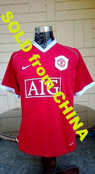 ENGLISH PREMIER MANCHESTER UNITED FC 2006-2007 FA PREMIER LEAGUE CHAMPION JERSEY NIKE SHIRT SOLD !!! - vintage soccer jersey