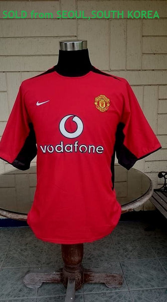 ENGLISH PREMIER MANCHESTER UNITED FC 2002-03 EPL CHAMPION HOME JERSEY NIKE SHIRT LARGE  SOLD !!! - vintage soccer jersey