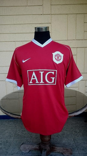 reputable site cbf7c 020a1 ENGLISH PREMIER MANCHESTER UNITED FC 2006-2007 FA PREMIER LEAGUE CHAMPION  RONALDO 7 JERSEY NIKE SHIRT XL/MODEL # 146814-648