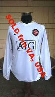 ENGLISH PREMIER MANCHESTER UNITED FC 2006-2007 FA PREMIER LEAGUE CHAMPION JERSEY NIKE SPHERE DRY AWAY LONGSLEEVES SHIRT LARGE SOLD !!! - vintage soccer jersey
