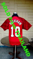 ENGLISH PREMIER MANCHESTER UNITED FC 1996-97 CHAMPION BECKHAM JERSEY UMBRO SHIRT  SOLD !!!! - vintage soccer jersey
