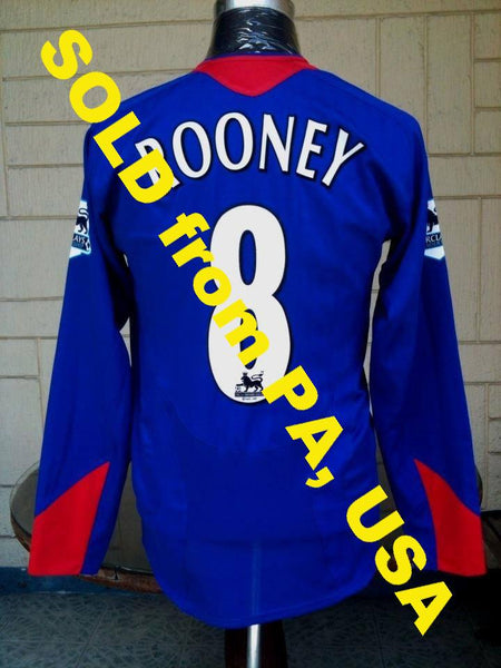 82985214d8 ENGLISH PREMIER MANCHESTER UNITED FC 2005-06 LEAGUE 31st.CHAMPION ROONEY  JERSEY NIKE SHIRT M SOLD !