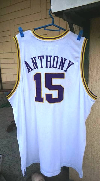 purchase cheap b57a3 b1e64 NBA DENVER NUGGETS CHAMPION VINTAGE HARDWOOD CLASSIC REEBOK BASKETBALL  JERSEY CARMELO ANTHONY 15 AUTHENTIC SHIRT 3 XL