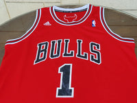 NBA ADIDAS CHICAGO BULLS DERRICK ROSE #1 BASKETBALL JERSEYS LARGE/ CODE # 7567A  SOLD !!! - vintage soccer jersey