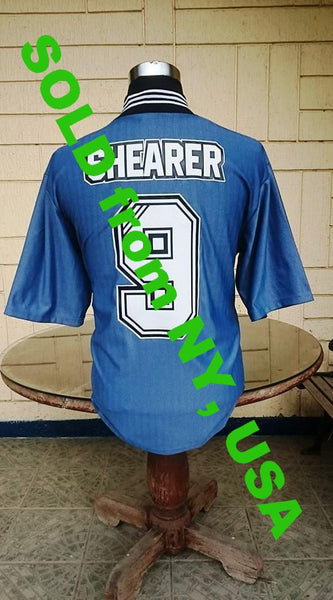 the best attitude e292a 49a44 ENGLISH PREMIER NEWCASTLE UNITED FC 1996-1997 PREMIER 2ND, CHARITY SHIELD  RUNNER UP, ALAN SHEARER JERSEY ADIDAS MEMORABILIA SHIRT L SOLD !!!!