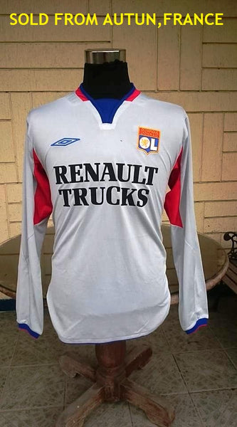 FRENCH LIGUE OLYMPIQUE LYONNAIS 2004-2005 CHAMPIONNAT DE FRANCE SHIRT JERSEY LARGE SOLD !! - vintage soccer jersey