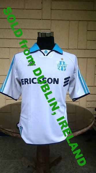 FRENCH LIGUE OLYMPIQUE MARSEILLE 1999-2000 ADIDAS JERSEY MAILLOT SHIRT  MEDIUM  SOLD !!! - vintage soccer jersey