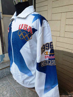 USA OLYMPIC TEAM 1996 ATLANTA : CENTENNIAL OLYMPIC GAMES TRAINING CHAMPION JACKET L - vintage soccer jersey