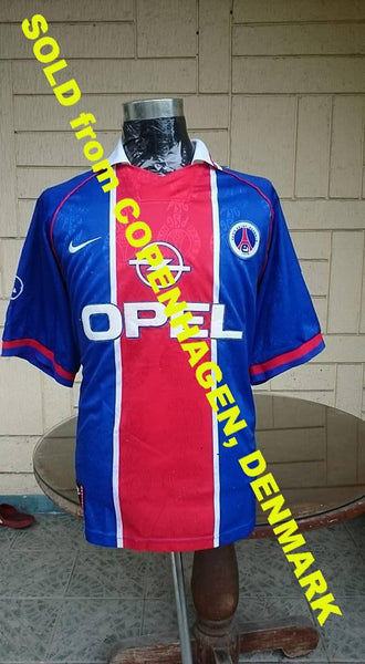 FRENCH LIGUE  PARIS SAINT GERMAIN 1995-96 CUP WINNER'S CUP & TROPHéE DES CHAMPIONS JERSEY NIKE SHIRT XL  SOLD !!! - vintage soccer jersey