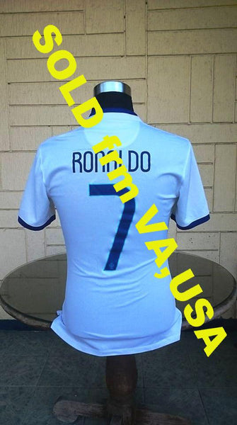 PORTUGAL 2014 WORLD CUP AWAY RONALDO NO 7 JERSEY NIKE SHIRT CAMISA CAMISETA MEDIUM  SOLD !!!! - vintage soccer jersey