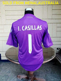 SPANISH LA LIGA REAL MADRID 2013-14 COPA DEL REY & UEFA CHAMPION GK CASILLAS 1  JERSEY ADIDAS SHIRT CAMISETA  SOLD !!!
