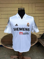SPANISH LA LIGA REAL MADRID 2004-2005 LA LIGA 2ND PLACE RONALDO 9 JERSEY ADIDAS SHIRT CAMISETA MEDIUM/ MODEL 188615 AJF001 SOLD !!!! - vintage soccer jersey