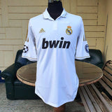 SPANISH LA LIGA REAL MADRID 2011-2012 UEFA CHAMPIONS LEAGUE SEMI-FINALS HOME JERSEY ADIDAS SHIRT CAMISETA XL - vintage soccer jersey