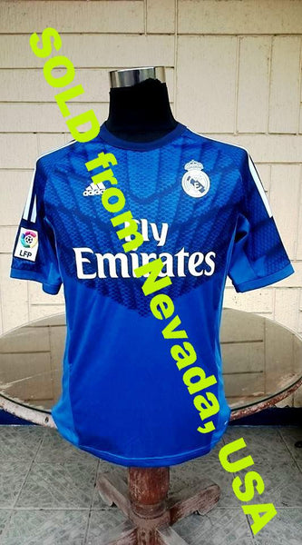 SPANISH LA LIGA REAL MADRID 2014-2015 UEFA SUPER CUP FIFA CLUB CHAMPION GOALKEEPER CASILLAS JERSEY SOLD !!! - vintage soccer jersey