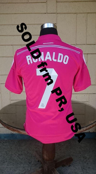 SPANISH LA LIGA REAL MADRID 2014-2015 UEFA SUPER CUP & FIFA CLUB WORLD CUP CHAMPION RONALDO 7 JERSEY ADIZERO SHIRT CAMISETA WOMEN SOLD !!! - vintage soccer jersey