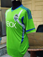 USA MLS SEATTLE SOUNDERS 2011  MLS CUP 2ND PLACE JERSEY ADIDAS HOME SHIRT M CODE# P10351 - vintage soccer jersey