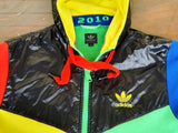 SOUTH AFRICA 2010 WORLD CUP HOODED TRACK TOP RARE TRAINING JACKET SMALL/ CODE# P04032 SOLD !!! - vintage soccer jersey