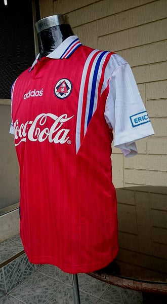 HONGKONG PREMIER LEAGUE   SOUTH CHINA A.A. FC 1990 s JERSEY Yùndòng shān  运动衫 SOLD ! 96fa47d46