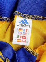SWEDEN 1998-1999 EURO 2000 QUALIFICATION HOME JERSEY ADIDAS RARE SHIRT  MEDIUM  SOLD !!! - vintage soccer jersey