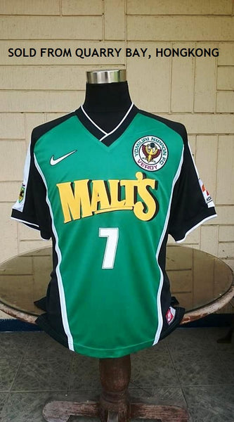 JAPAN J-LEAGUE TOKYO VERDY 1998 VERDY KAWASAKI ( YOMIURI NIPPON FC 1969 ) EMPEROR'S CUP QUARTERFINALS  JERSEY NIKE SHIRT LARGE  ジャージーシャツ SOLD !!!! - vintage soccer jersey