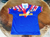 JAPAN J-LEAGUE YOKOHAMA F. MARINOS 1995 J-LEAGUE CHAMPION VINTAGE JERSEY MIZUNO SHIRT SMALL  ジャージーシャツ - vintage soccer jersey