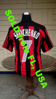 "ITALIAN CALCIO AC MILAN 2003-04 SERIE-A & UEFA SUPER CUP CHAMPION SHEVCHENKO 7 JERSEY ADIDAS ""DOUBLE KNITTED"" SHIRT MAGLIA MEDIUM SOLD !!!! - vintage soccer jersey"