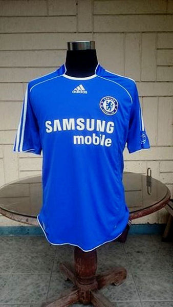 sports shoes 540c3 1c0e3 ENGLISH PREMIER CHELSEA 2006-07 FA CUP & LEAGUE CUP CHAMPION DROGBA JERSEY  ADIDAS SHIRT SOLD !!!!