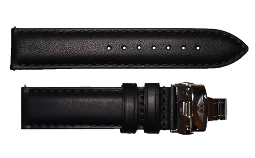 Black Aged Leather Band