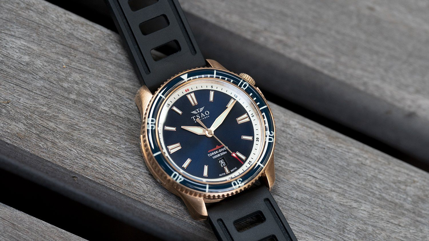 BRONZE TORSK-DIVER - MIDNIGHT BLUE