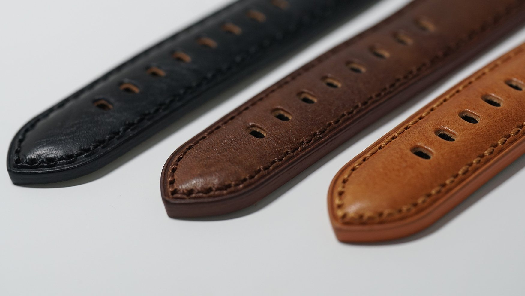 TORSK-DIVER Vintage Light Brown Leather Strap