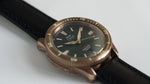 TORSK-DIVER Vintage Black Leather Strap