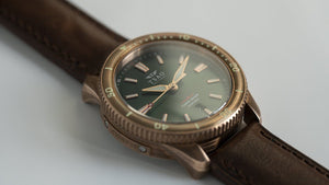 TORSK-DIVER Vintage Brown Leather Strap
