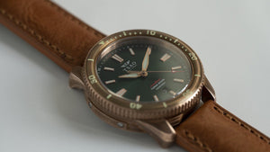 TORSK-DIVER Vintage Light Brown Leather Strap (Long)