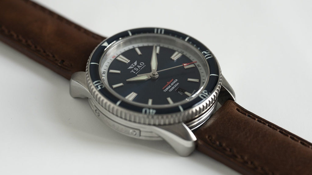 TORSK-DIVER Vintage Brown Leather Strap (Long)