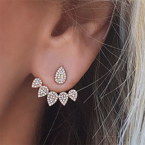 Zircon Crystal Water Drop Earrings