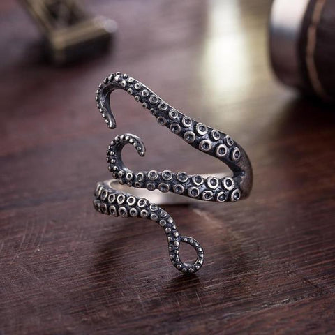 The Kraken Ring - Adjustable Steel Octopus Ring