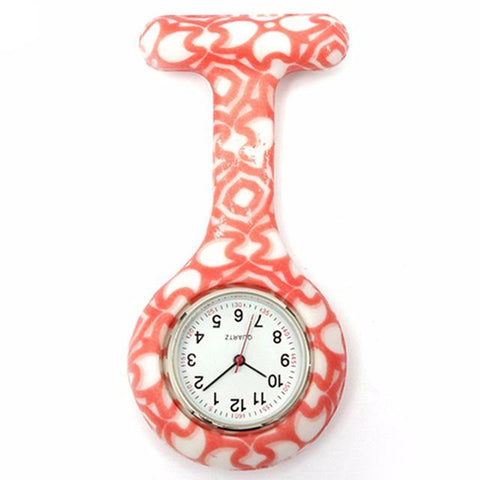 Latest Nurse Silicone Multiple Pattern Brooch Fob Pocket Watch In Support Of www.NursesHouse.org