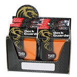 BCW 500 Premium Orange Double Matte Deck Guard Sleeves [Display Bundle - 10 Packs of 50 Sleeves]