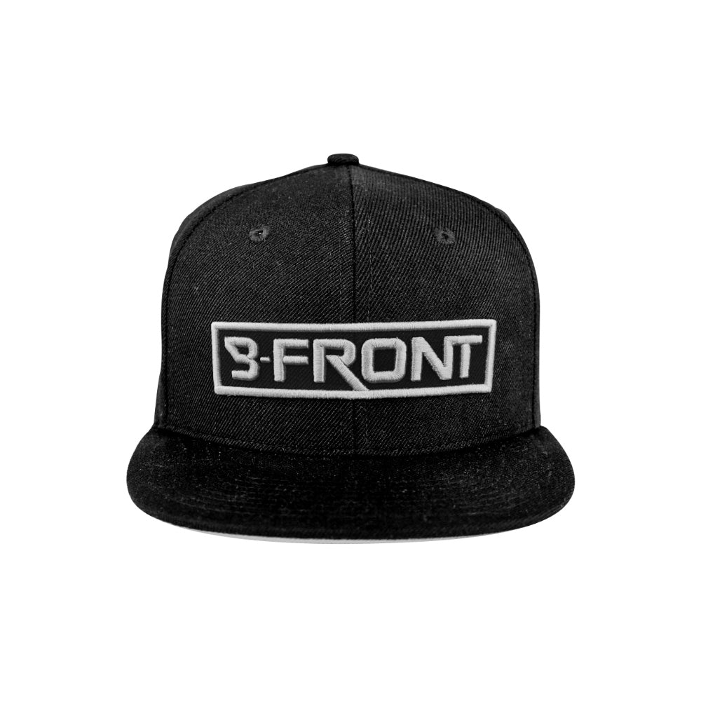 B-Front Snapback Silver Embroidery