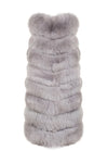 Grey Long Fur Gilet