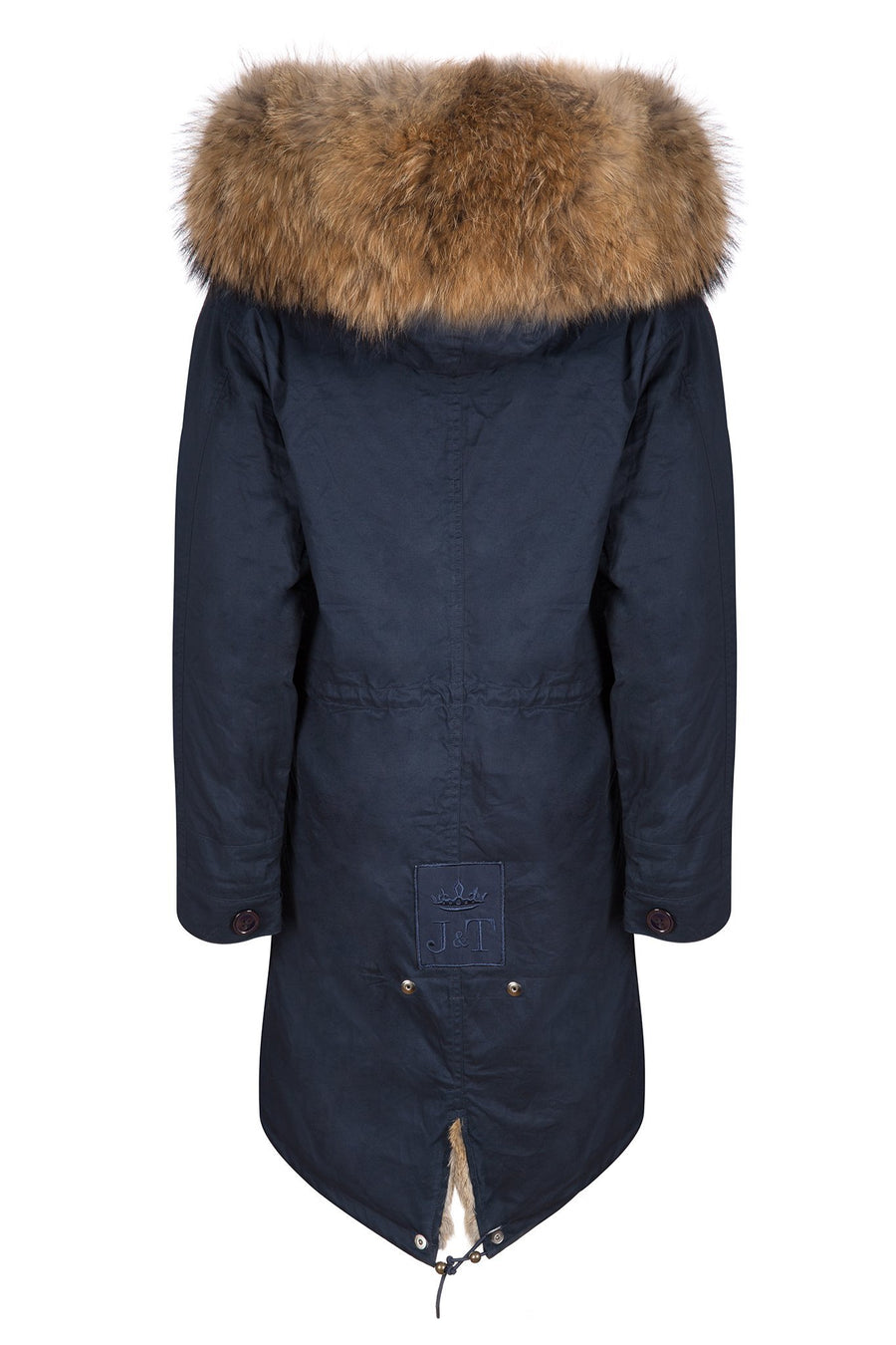 Faux Navy on Natural Darling Parka