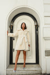 White Luxe Faux Fur Coat